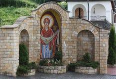 修道院的庭院 免版税库存照片