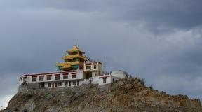 修道院的透视图在Leh 免版税库存图片