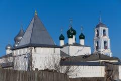 修道院看法从后院的 库存照片
