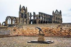 修道院英国北部whitby约克夏 免版税图库摄影