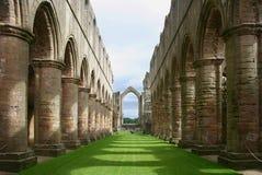 修道院英国喷泉约克夏 免版税库存图片
