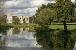 修道院英国河破坏waverley wey 免版税库存图片