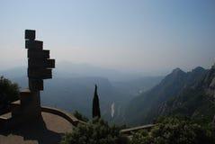 修道院蒙特塞拉特岛视图 库存照片