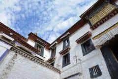 修道院西藏 免版税库存照片