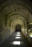 修道院走廊,西班牙静物画  库存照片