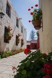 修道院路在阿雷基帕 免版税图库摄影