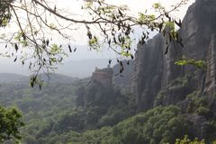 修道院迈泰奥拉在希腊 免版税库存图片
