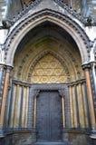 修道院门极大的北部威斯敏斯特 库存图片