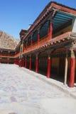修道院,喜马拉雅山 库存照片