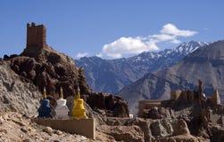 修道院, Basgo,拉达克,印度 免版税图库摄影