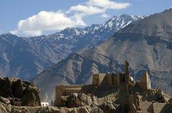 修道院, Basgo,拉达克,印度 库存图片