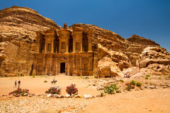 修道院, Petra 库存图片