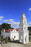 修道院, Rhodos,希腊 免版税图库摄影