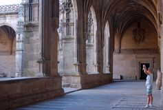 修道院-孔波斯特拉的圣地牙哥 免版税图库摄影
