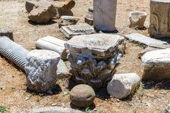 修道院(男修道院)在克利特海岛的Messara谷的在希腊 免版税图库摄影