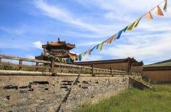 修道院建筑学在蒙古 库存图片