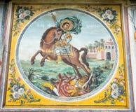 修道院Bachkovski的壁画的圣乔治 库存照片