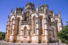 修道院Batalha,葡萄牙看法  免版税库存照片