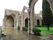 修道院bellapais塞浦路斯 库存照片