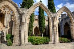 修道院bellapais塞浦路斯 免版税库存图片