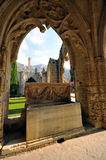 修道院bellapais kyrenia 库存图片