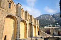 修道院bellapais kyrenia 库存照片