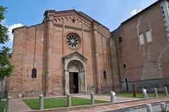 修道院cistercian一点红fontevivo意大利romagna 免版税库存图片