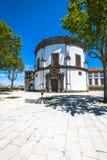 修道院da Serra在加亚新城,葡萄牙做毛发 库存照片