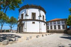 修道院da Serra在加亚新城,葡萄牙做毛发 图库摄影