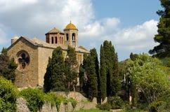 修道院fontfroide南的法国 免版税库存照片