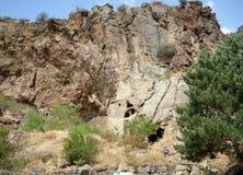 修道院Geghard,亚美尼亚 免版税库存照片