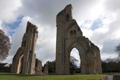 修道院glastonbury废墟 库存照片