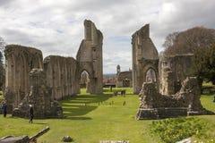 修道院glastonbury废墟 图库摄影