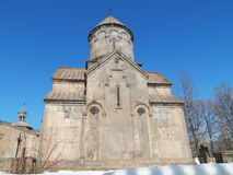 修道院Kecharis (11-13个世纪)在Tsahkadzor在亚美尼亚 图库摄影