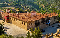 修道院Megali Panagia,萨莫斯岛,希腊 免版税库存照片