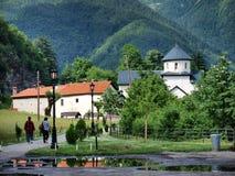 修道院montenegro moraca 免版税库存照片