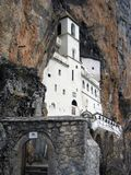 修道院montenegro ostrog 免版税图库摄影