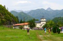修道院Moraca,黑山 库存图片