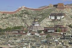 修道院palkhor西藏 免版税库存照片