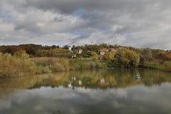 修道院Petkovica,弗鲁什卡山塞尔维亚 库存照片