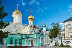 修道院posad俄国sergiev sergius st三位一体 免版税库存图片