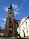 修道院sazava塔 免版税库存图片