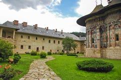修道院Sucevita,罗马尼亚。 免版税图库摄影