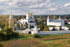 修道院suzdal pokrovsky的俄国 库存图片