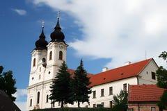 修道院tihany的匈牙利 库存照片