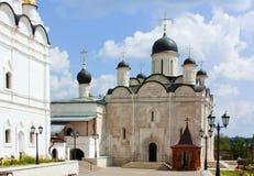 修道院vladychny俄国的serpukhov 库存照片