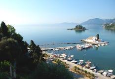 修道院Vlahelna, Kerkyra,科孚岛海岛,希腊 免版税库存图片