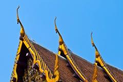 修道院Wat Na Phramane屋顶  库存照片