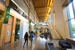 修建俄勒冈大学校园的EMU 免版税库存图片