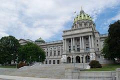 修建哈里斯堡,宾夕法尼亚的国会大厦 免版税库存图片